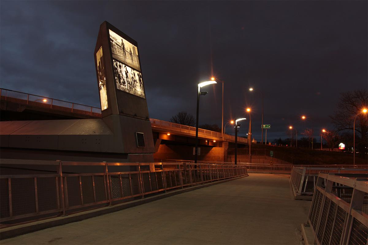 Urban Park Custom Bridge Pillar