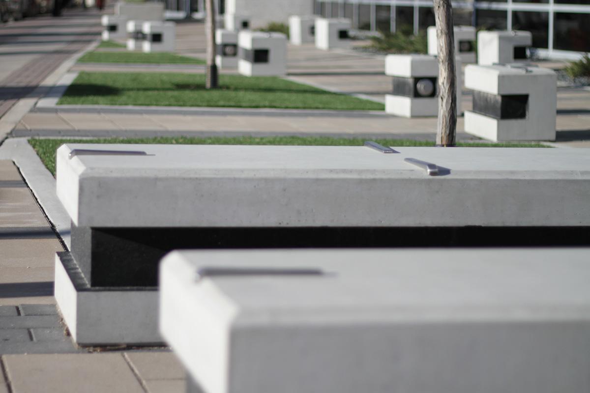 Urban Park Skateboard Deterrent Studs